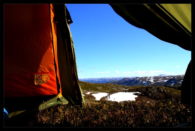 telttur teltåpning